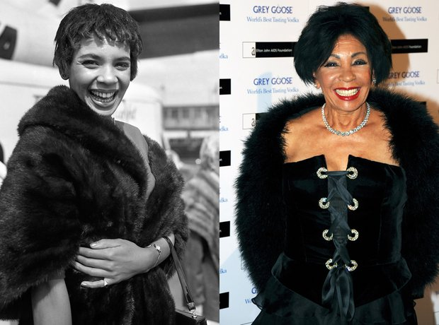 Shirley Bassey then and now