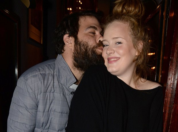 Adele and her boyfriend Simon Koneck