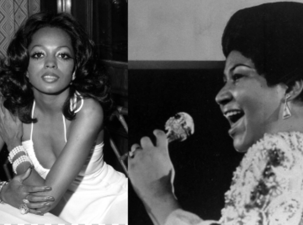 Diana Ross and Aretha Franklin