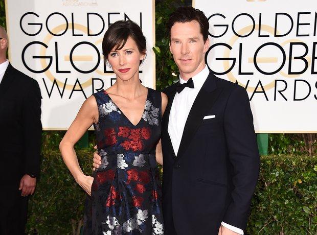 Golden Globes 2015 Benedict Cumberbatch and Sophie