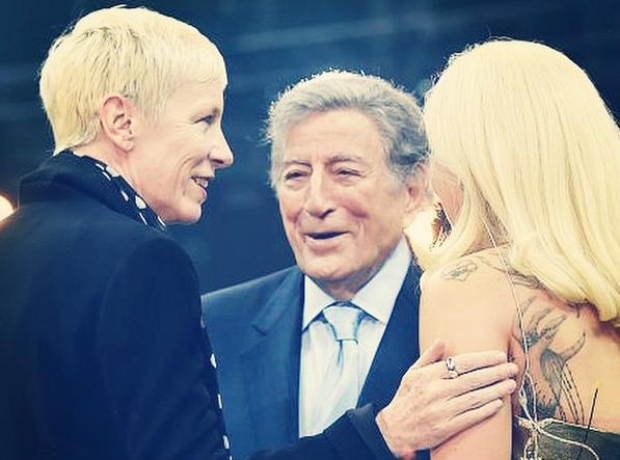 Annie Lennox talks to Lady Gaga and Tony Bennett