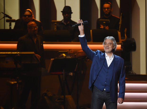 Italian tenor Andrea Bocelli performed a solo of '
