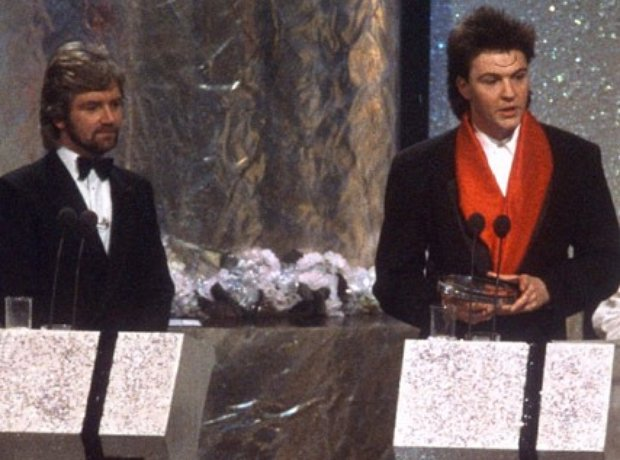 Noel Edmonds and Paul Young