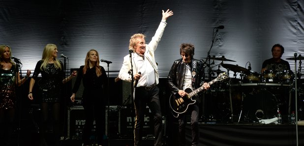 Ronnie Wood and Rod Stewart The Faces reunion