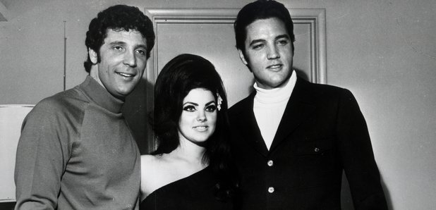 Tom Jones with Elvis Presley and Priscilla Presley