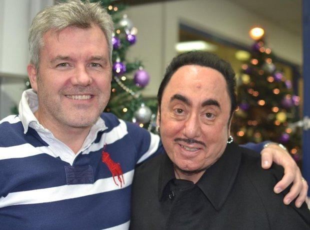 Carlos with David Gest