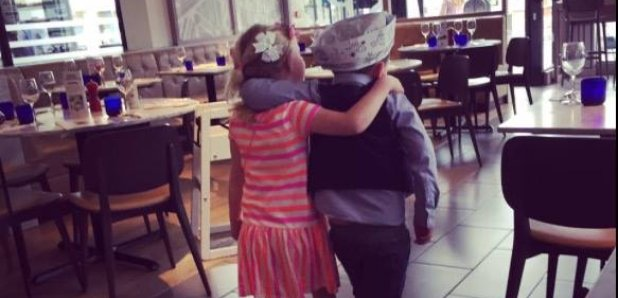 little boy takes date to pizza express