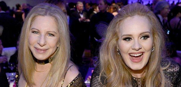Barbra Streisand and Adele Oscars 2013