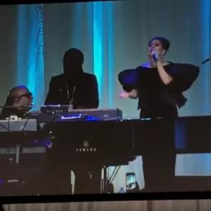 Stevie Wonder and Lady Gaga singing together
