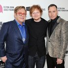 Elton John, Ed Sheeran and David Furnish